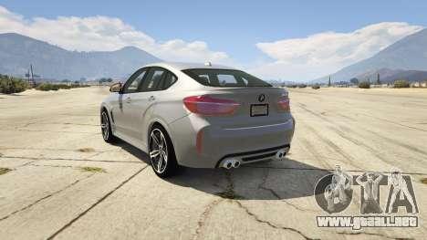 GTA 5 BMW X6M F16 Final vista lateral izquierda trasera