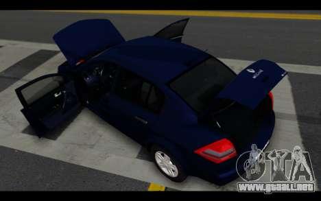 Renault Megane Sedan para vista inferior GTA San Andreas