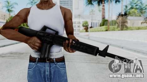 GTA 3 M16 para GTA San Andreas tercera pantalla