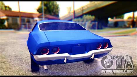 Chevrolet Camaro Z28 1970 Tunable para vista inferior GTA San Andreas