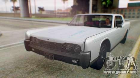 GTA 5 Vapid Chino Tunable PJ para GTA San Andreas vista hacia atrás