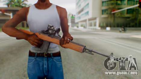 Arma2 M14 Assault Rifle para GTA San Andreas tercera pantalla