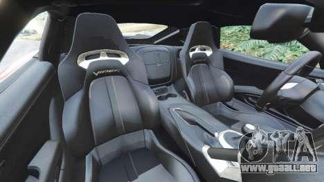 GTA 5 Dodge Viper SRT 2014 vista lateral derecha