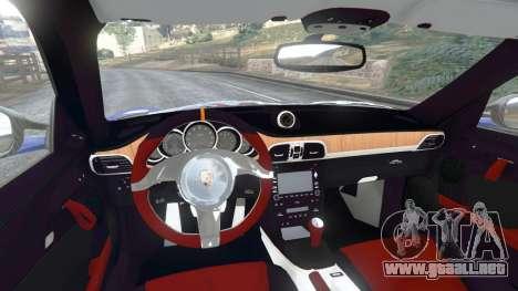 GTA 5 Porsche 997 GT2 RS vista lateral trasera derecha
