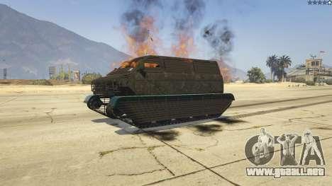 GTA 5 Police Transporter Tracked vista trasera