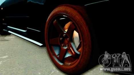 Nissan Skyline GT-R Nismo Tuned para GTA San Andreas vista posterior izquierda