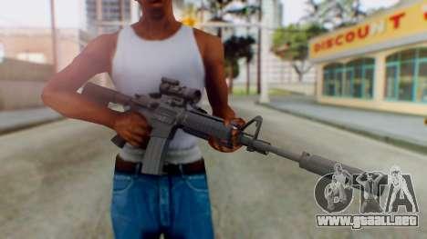 Arma Armed Assault M4A1 Aimpoint Silenced para GTA San Andreas tercera pantalla
