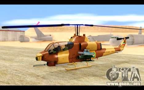 AH-1W IRIAF SuperCobra para GTA San Andreas left