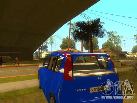 Nissan Note v0.5 Beta para visión interna GTA San Andreas