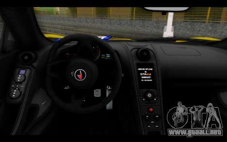 McLaren 650S Coupe para GTA San Andreas vista posterior izquierda