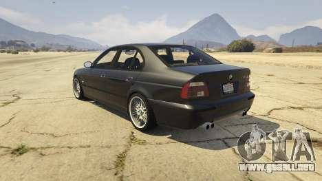 GTA 5 BMW M5 E39 1.1 vista lateral izquierda trasera