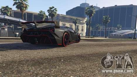 GTA 5 2013 Lamborghini Veneno HQ EDITION vista trasera