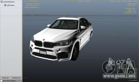 GTA 5 BMW X6M F16 Final vista lateral derecha