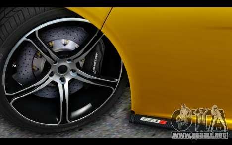 McLaren 650S Coupe para visión interna GTA San Andreas