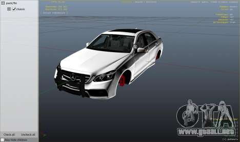 GTA 5 Mercedes-Benz E63 AMG Unmarked Cruiser vista lateral derecha