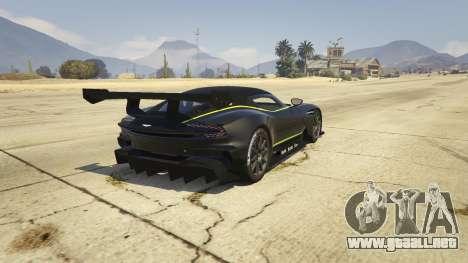 GTA 5 Aston Martin Vulcan v1.0 vista lateral izquierda trasera