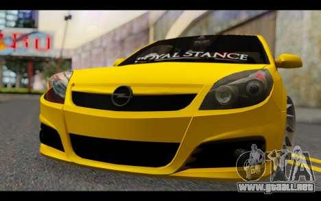 Opel Vectra Special para GTA San Andreas vista hacia atrás