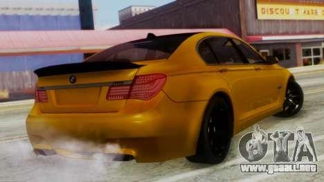 BMW 750Li M Sport para GTA San Andreas left