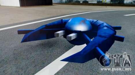 Alien Ship Dark Blue para GTA San Andreas left