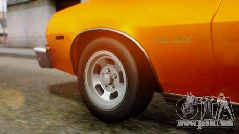 Ford Gran Torino 1974 para GTA San Andreas vista hacia atrás