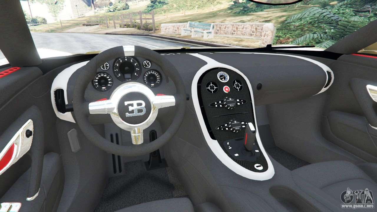bugatti veyron super sport para gta 5. Black Bedroom Furniture Sets. Home Design Ideas