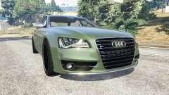 Audi S8 Quattro 2013 v1.2 para GTA 5