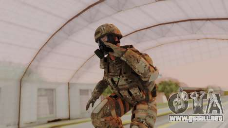 US Army Multicam Soldier Gas Mask from Alpha Pro para GTA San Andreas