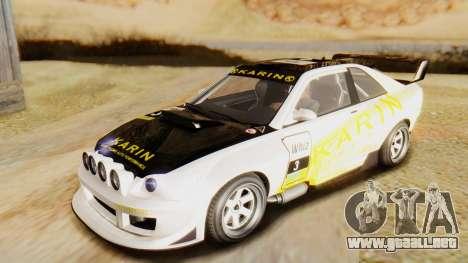 GTA 5 Karin Sultan RS para visión interna GTA San Andreas