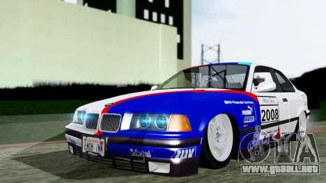 BMW M3 Coupe E36 (320i) 1997 para visión interna GTA San Andreas