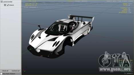 GTA 5 Pagani Zonda R v1.0 vista lateral derecha