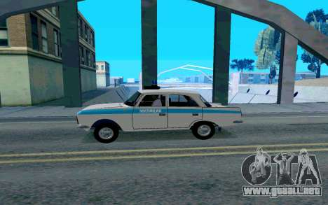 Moskvitch 412 De La Policía para GTA San Andreas left