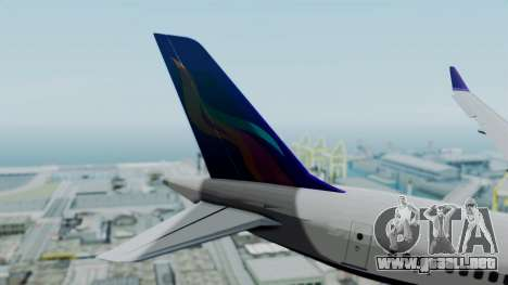 C919 UrumqiAir para GTA San Andreas vista posterior izquierda