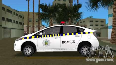 Toyota Prius De La Policía De Ucrania para GTA Vice City left