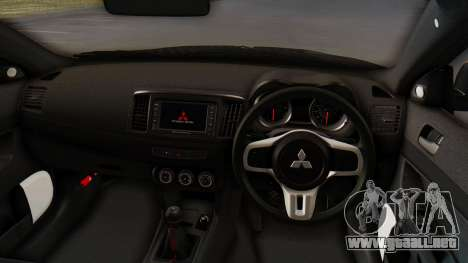 Mitsubishi Lancer Evolution X Stance para GTA San Andreas vista hacia atrás