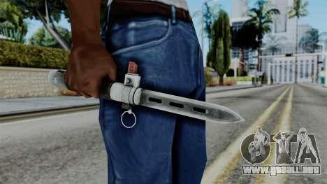 CoD Black Ops 2 - Balistic Knife para GTA San Andreas tercera pantalla