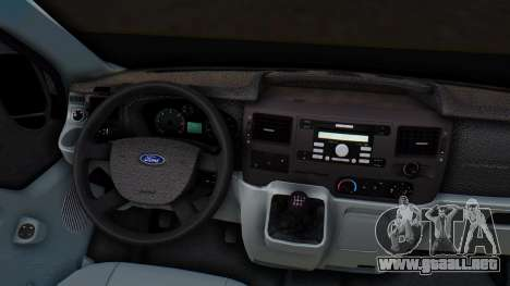 Ford Transit 2007 Model AirTran para vista lateral GTA San Andreas