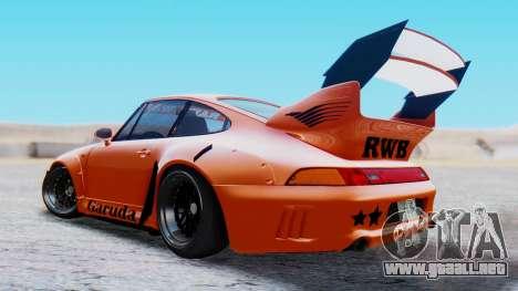 Porsche 993 GT2 RWB GARUDA para GTA San Andreas left