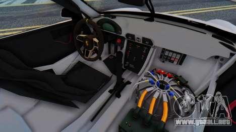 Porsche 911 GT3 Cup para GTA San Andreas vista hacia atrás