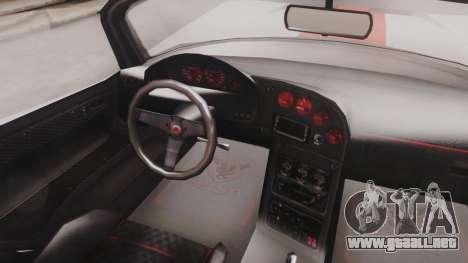 GTA 5 Bravado Banshee 900R IVF para GTA San Andreas vista hacia atrás