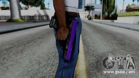Purple Desert Eagle para GTA San Andreas tercera pantalla