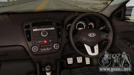 Kia Ceed Stance AirQuick para visión interna GTA San Andreas