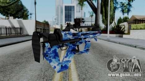 CoD Black Ops 2 - PDW-57 Camo Blue para GTA San Andreas segunda pantalla