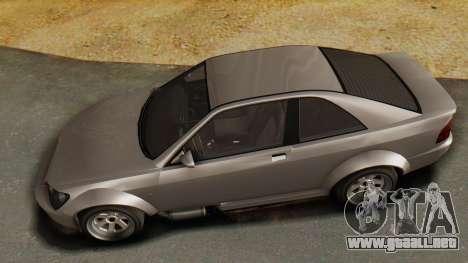 GTA 5 Karin Sultan RS para GTA San Andreas vista hacia atrás