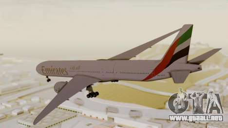 Boeing 777-9x Emirates Airlines para GTA San Andreas left