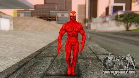 Marvel Heroes - Carnage para GTA San Andreas segunda pantalla
