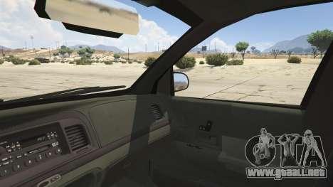 GTA 5 Ford Crown Victoria Detective vista lateral trasera derecha