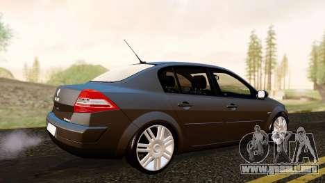 Renault Megane CPJ para GTA San Andreas vista posterior izquierda