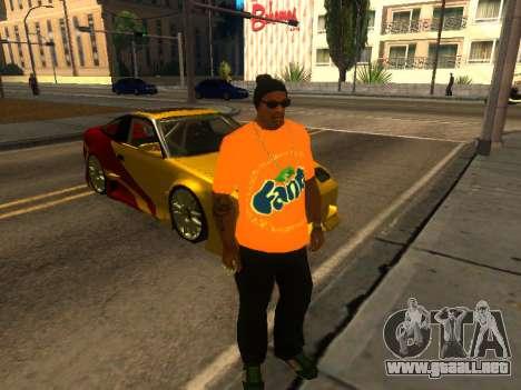 T-Shirt Fanta para GTA San Andreas segunda pantalla