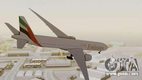 Boeing 777-9x Emirates Airlines para la visión correcta GTA San Andreas