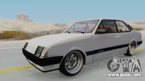 Chevrolet Chevette Stance para la visión correcta GTA San Andreas